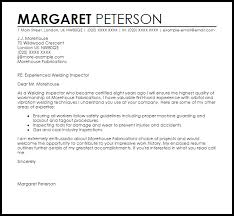 Sample Cover Letter For Internship Welding Inspector Make A Photo Gallery Certified