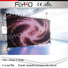 Music Studio Equipment Led Background Color Video Curtain Light Stage DJ Booth Cheap