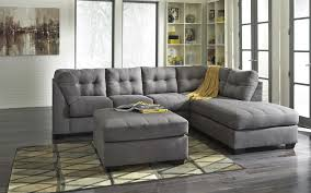 Mor Furniture Sofa Chaise by Benchcraft Maier Charcoal 2 Piece Sectional With Left Chaise