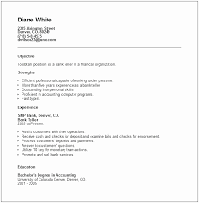 Resume For Entry Level Bank Job Elegant Teller Examples Skills Sample