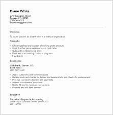 Resume For Entry Level Bank Job Elegant Teller Examples Skills Sample