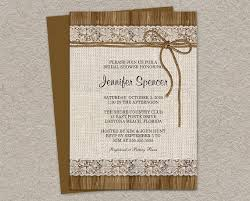 Rustic Wedding Shower Invitations Which Can Be Used To Make Your Own Invitation Design 3
