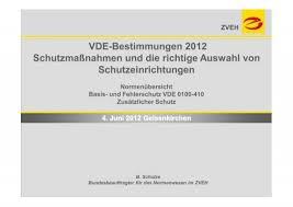 vde bestimmungen 2012 schutzmaßnahmen und die richtige