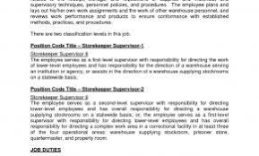 Resume Format For Construction Store Keeper Beautiful Warehouse Supervisor Sample Job Description Storekeeper Samples