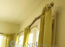 DIY Idea A Rustic Tree Branch Curtain Rod