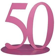 rs dekoration zahl 50 rosa metall ca 15 x 15 cm de