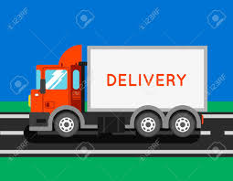 Delivery Truck With Container. Ton Truck Vector Illustration ...