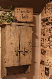 Country Style Medicine Cabinets Bathroom Primitive Decor With Old