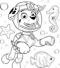 Pup Patrol Coloring Pages Paw Sheets With Tracker Free Pet