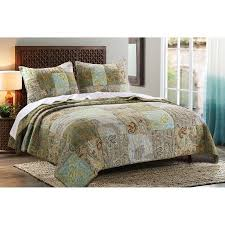 Greenland Home Bedding by Paisley Dream Quilt Set By Greenland Home Walmart Com