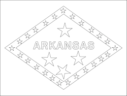 Arkansas Flag Coloring Pages