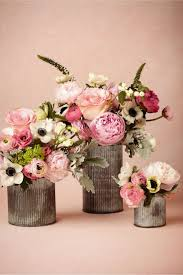 Rustic Country Wedding Flowers Centerpieces Matched With Lovely Oink Roses And Coral Arrangements In Tubecountry Vase Design