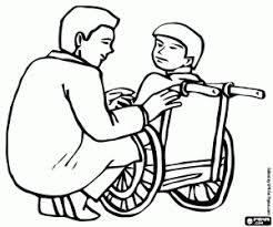 Doctor And Patient In Wheelchair Of Traumatology Orthopedics Coloring Page