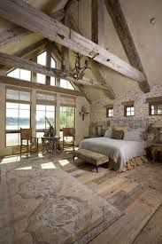Cottage Bedroom Ideas by 56 Extraordinary Rustic Log Home Bedrooms Beams Cabin And Bedrooms
