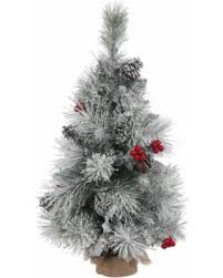 Vickerman White Red And Green Plastic 18 Inch Frosted Mixed Berry Pine Unlit Set This Artificial Christmas Tree