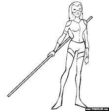 The Scarlett Mask Coloring Page