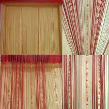 burgundy rideau voilage à perles 200 100 cm porte fenêtre salle