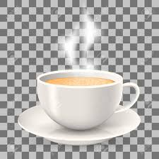 Hot Cup Of Coffee With Steam On Saucer Element The Transparent Background Cappuccino