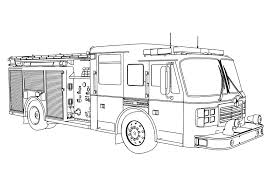 Firetruck Coloring Page Fire Truck Sheet Booksforkids Free Pages For Kids