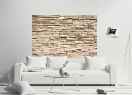 poster steinwand steinoptik mauer sandstein wanddeko stein