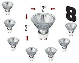 sleeklighting gu10 20 watt 120volt light bulb spotlight