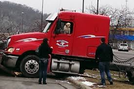 100 Truck Dog Takes Semitruck For Joyride Crashes Into Tree And Parked Car