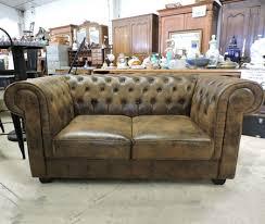 canap chesterfield cuir vieilli les salons neufs