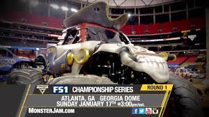 100 Monster Trucks Atlanta Jam On FS1 January 17 2016 YouTube