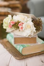 Simple And Cute Book Wedding Centerpieces