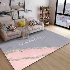 wishstar nordic luxus grau lila gold teppich mädchen zimmer bett teppiche lange teppich für küche boden fußmatte flur teppich decor