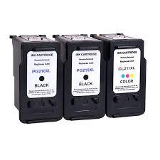 3 PK Black Color Ink For Canon PG 210XL CL 211XL PIXMA MP240 MP250