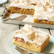 rhabarber kuchen mit baiser rezept