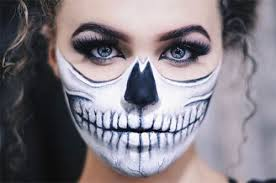 Scary Halloween Half Masks by 15 Scary Halloween Mouth Teeth U0026 Half Face Makeup For Girls