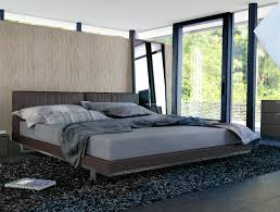 King Platform Bed With Leather Headboard by Modern Platform Bed With Dark Coffee Faux Leather Headboard U2013 Size