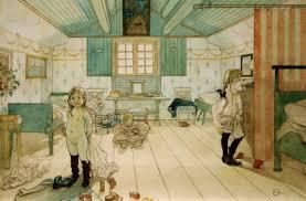 kunstdruck das schlafzimmer carl larsson auf aquarell