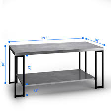 100 Living Room Table Modern Costway Accent Coffee Furniture Metal Frame WLower Shelf