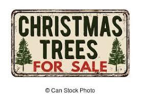 Christmas Tree For Sale Vintage Metal Sign