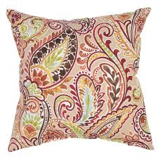 Hampton Bay Patio Chair Replacement Cushions by Hampton Bay Chili Paisley Square Outdoor Throw Pillow 7050
