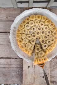 upsidedown bananen kuchen frau zuckerstein