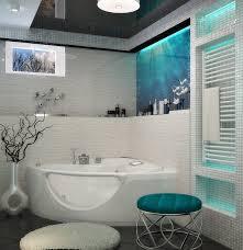 bad mit kleinem fenster weiß türkis deko dekoration