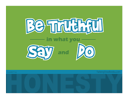 Motivational Poster About Honesty And Trustworthiness For Kids
