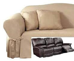 Sure Fit Sofa Covers Ebay by Reclining Sofa Slipcover Sure Fit Ribbed Texture Chocolate Surefit
