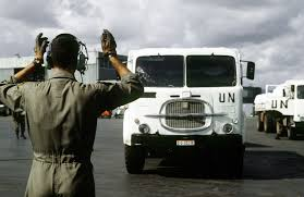 100 Nations Truck An Air Force Loadmaster Marshals A Large United Truck Into