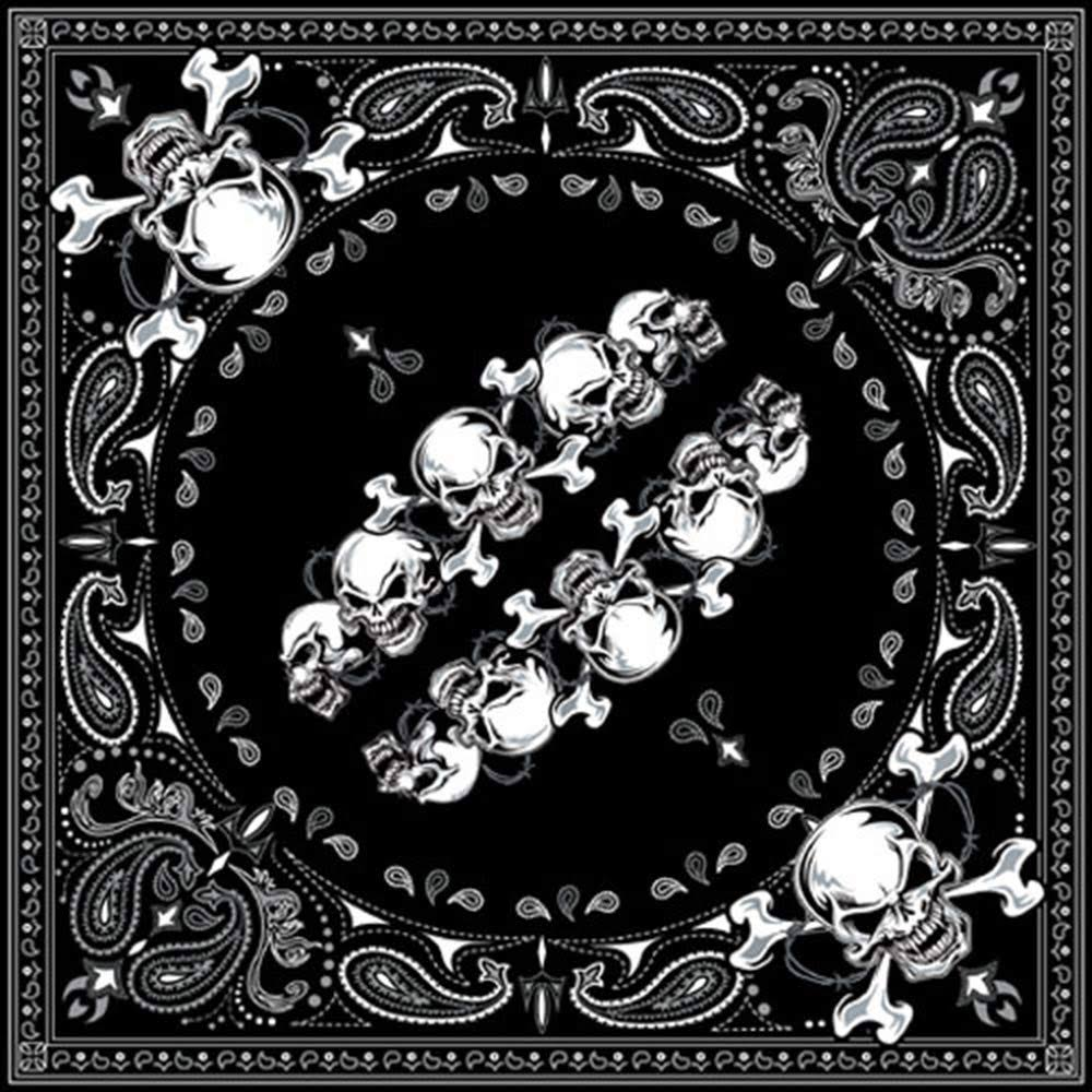 Zanheadhear Cotton Bandanna - Skull Row