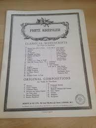 100 Fritz 5 Kreisler Classical Manuscripts For
