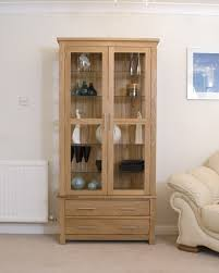 Ebay Cabinets And Cupboards by Eton Solid Oak Living Room Furniture Glazed Display Cabinet