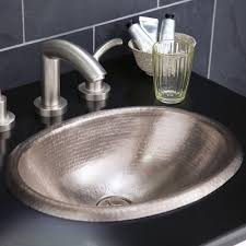 Drop In Bathroom Sink With Granite Countertop by Rolled Baby Classic Copper Bathroom Sink Native Trails