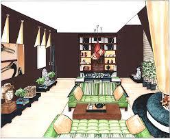 perspektive essbereich asiatisches wohnzimmer