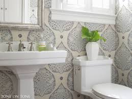 Tone On Tone - Interior & Garden Design: Powder Room Renovation How Bathroom Wallpaper Can Help You Reinvent This Boring Space 37 Amazing Small Hikucom 5 Designs Big Tree Pattern Wall Stickers Paper Peint 3d Create Faux Using Paint And A Stencil In My Own Style Mexican Evening Removable In 2019 Walls Wallpaper 67 Hd Nice Wallpapers For Bathrooms Ideas Wallpapersafari Is The Next Design Trend Seashell 30 Modern Colorful Designer Our Top Picks Best 17 Beautiful Coverings