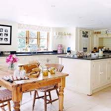 Country Dining Room Ideas Uk by Open Plan Kitchen Design Ideas Pine Dining Table Open Plan